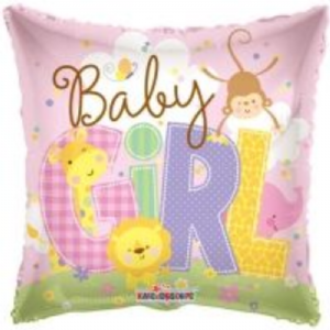 "BABY GIRL BALLOON 18"" 19482-18"